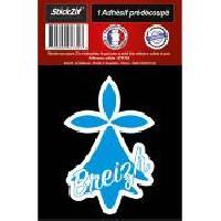 Adhesifs & Stickers 1 Autocollant Hermine Bleue Breizh
