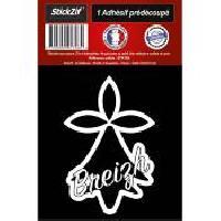 Adhesifs & Stickers 1 Autocollant Hermine Noire Breizh