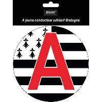 Adhesifs & Stickers 1 Disque A Adhesif Jeune Conducteur Bretagne