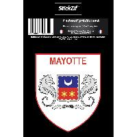 Adhesifs & Stickers 1 Sticker Mayotte - STR976B - ADNAuto