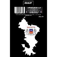 Adhesifs & Stickers 1 Sticker Mayotte - STR976C