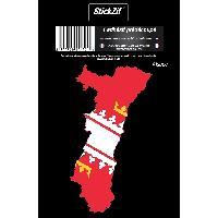 Adhesifs & Stickers 1 Sticker Region Alsace 2
