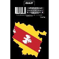 Adhesifs & Stickers 1 Sticker Region Lorraine - STR6C