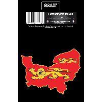 Adhesifs & Stickers 1 Sticker Region Normandie - STR3C Generique