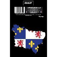 Adhesifs & Stickers 1 Sticker Region Picardie - STR8C