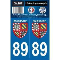 Adhesifs & Stickers 2 ADHESIFS -REGION- DEPARTEMENT 89 BOURGOGNE Generique