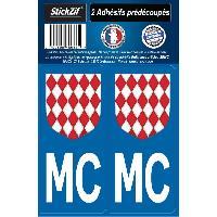Adhesifs & Stickers 2 ADHESIFS -REGION- MONTE CARLO Generique