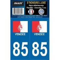 Adhesifs & Stickers 2 Adhesifs ReGION Retro-Reflechissants Departement 85 Vendee Generique