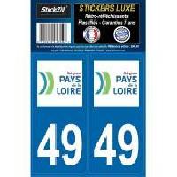 Adhesifs & Stickers 2 Adhesifs ReGION Retro-Reflechissants Dpt 49 Pays De La Loire Generique