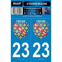 Adhesifs & Stickers 2 Adhesifs Region Departement 23 CREUSE Generique