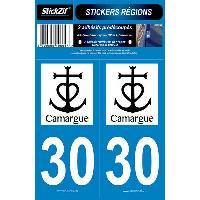Adhesifs & Stickers 2 Adhesifs Region Departement 30 CAMARGUE Generique