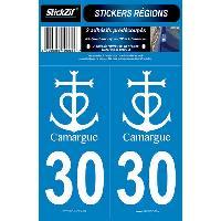 Adhesifs & Stickers 2 Adhesifs Region Departement 30 CAMARGUE SR30-3 Generique