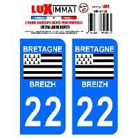 Adhesifs & Stickers 2 Adhesifs Resine Premium Departement 22 - ADNAuto