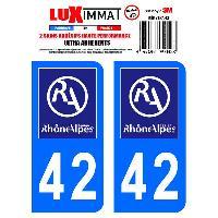 Adhesifs & Stickers 2 Adhesifs Resine Premium Departement 42 - ADNAuto