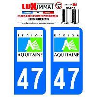 Adhesifs & Stickers 2 Adhesifs Resine Premium Departement 47 - ADNAuto