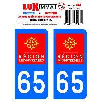 Adhesifs & Stickers 2 Adhesifs Resine Premium Departement 65 - ADNAuto