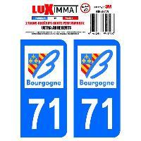 Adhesifs & Stickers 2 Adhesifs Resine Premium Departement 71 - ADNAuto