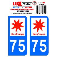Adhesifs & Stickers 2 Adhesifs Resine Premium Departement 75 Generique
