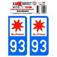 Adhesifs & Stickers 2 Adhesifs Resine Premium Departement 93 Generique