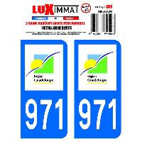 Adhesifs & Stickers 2 Adhesifs Resine Premium Departement 971 GUADELOUPE Generique