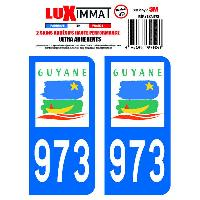 Adhesifs & Stickers 2 Adhesifs Resine Premium Departement 973 GUYANE Generique