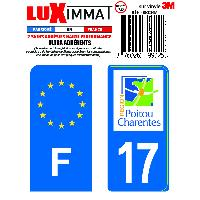 Adhesifs & Stickers 2 Adhesifs Resine Premium F+17 pour moto Generique