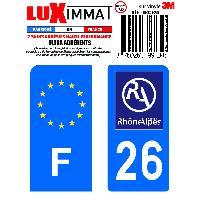 Adhesifs & Stickers 2 Adhesifs Resine Premium F+26 pour moto Generique