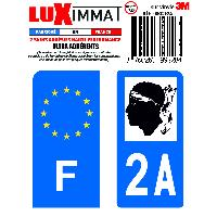 Adhesifs & Stickers 2 Adhesifs Resine Premium F+2A pour moto Generique