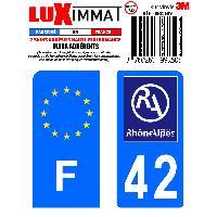 Adhesifs & Stickers 2 Adhesifs Resine Premium F+42 pour moto Generique