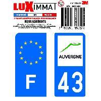 Adhesifs & Stickers 2 Adhesifs Resine Premium F+43 pour moto Generique