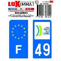 Adhesifs & Stickers 2 Adhesifs Resine Premium F+49 pour moto Generique