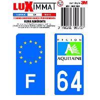 Adhesifs & Stickers 2 Adhesifs Resine Premium F+64 pour moto Generique