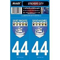 Adhesifs & Stickers 2 Autocollants City 44 Saint Nazaire SC44-1