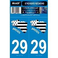 Adhesifs & Stickers 2 Autocollants Departement 29 Carte Bretagne SR29-2