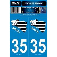 Adhesifs & Stickers 2 Autocollants Departement 35 Carte Bretagne SR35-2