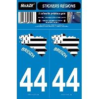 Adhesifs & Stickers 2 Autocollants Departement 44 Carte Bretagne SR44-2