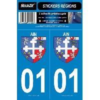 Adhesifs & Stickers 2 Autocollants Region Departement 01 Version 2 SR01-1