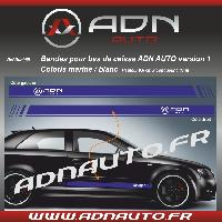 Adhesifs & Stickers 2 Stickers compatible avec bas de caisse ADNAuto - MarineBlanc - ADNLifestyle