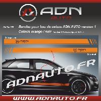 Adhesifs & Stickers 2 Stickers compatible avec bas de caisse ADNAuto - OrangeNoir - ADNLifestyle