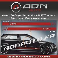 Adhesifs & Stickers 2 Stickers pour bas de caisse ADNAuto - RougeBlanc - ADNLifestyle