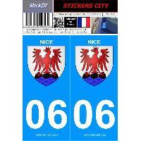 Adhesifs & Stickers 2 autocollants City 06