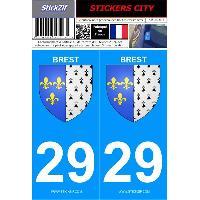 Adhesifs & Stickers 2 autocollants City 29 version 2