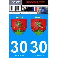 Adhesifs & Stickers 2 autocollants City 30