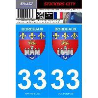 Adhesifs & Stickers 2 autocollants City 33