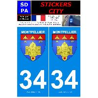 Adhesifs & Stickers 2 autocollants City 34