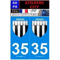 Adhesifs & Stickers 2 autocollants City 35
