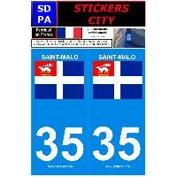 Adhesifs & Stickers 2 autocollants City 35 version 2 Saint-Malo