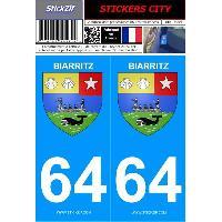 Adhesifs & Stickers 2 autocollants City 64
