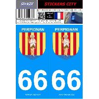Adhesifs & Stickers 2 autocollants City 66
