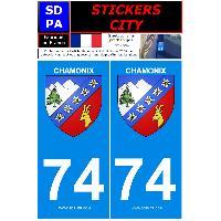 Adhesifs & Stickers 2 autocollants City 74